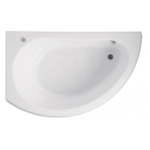Акриловая ванна Vagnerplast Corona левая 160x80x42 см