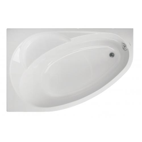 Акриловая ванна Vagnerplast Flora левая 150x100x43