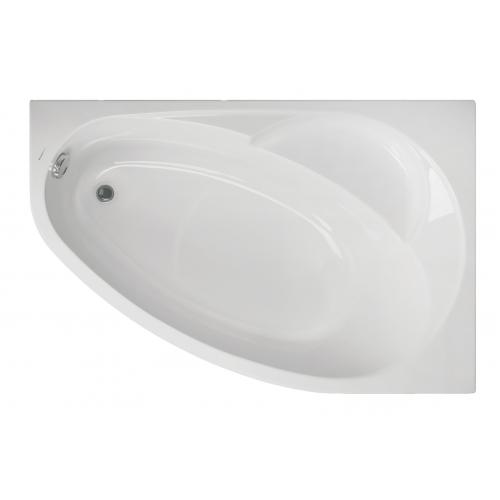 Акриловая ванна Vagnerplast Flora правая 150x100x43