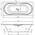 Акриловая ванна Vagnerplast Briana 170x75x43 см