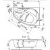 Акриловая ванна Vagnerplast Flora левая 150x100x43 см
