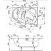 Акриловая ванна Vagnerplast Melite левая 160x105x48 см