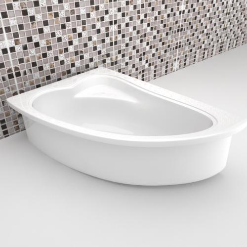 Асимметричные акриловые ванны для угловой установки