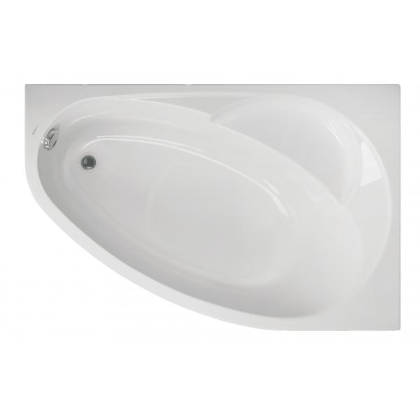 Акриловая ванна Vagnerplast Flora правая 150x100x43 см